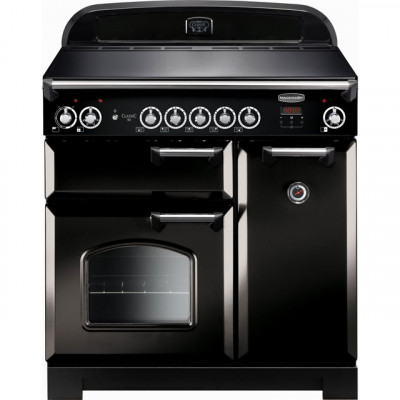 Save £566 at AO on Rangemaster Classic CLA90EIBL/C 90cm Electric Range Cooker with Induction Hob - Black / Chrome - A/A Rated