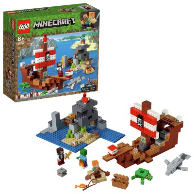 Save £10 at Argos on LEGO Minecraft Pirate Toy Ship Adventure Playset - 21152