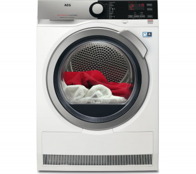 Save £130 at Currys on AEG Tumble Dryer AbsoluteCare T8DEE945R Condenser - White, White