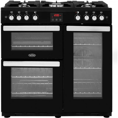 Save £250 at AO on Belling Cookcentre90G 90cm Gas Range Cooker with Electric Fan Oven - Black - B/A Rated