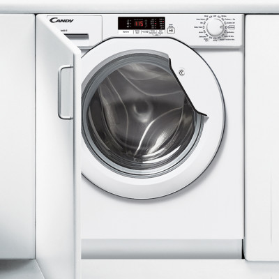 Save £100 at AO on Candy CBWM816S Integrated 8Kg Washing Machine with 1600 rpm - White - A+++ Rated