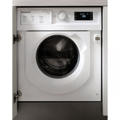 Save £80 at AO on Hotpoint BIWMHG71483UKN Integrated 7Kg Washing Machine with 1400 rpm - White - A+++ Rated