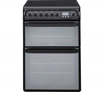 Save £80 at Currys on HOTPOINT Ultima DUE61BC Electric Ceramic Cooker – Black, Black