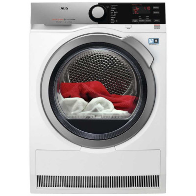 Save £191 at Appliance City on AEG T8DEE945R 9kg Heat Pump Condenser Tumble Dryer 8000 Series - WHITE