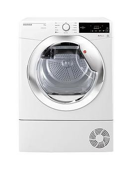 Save £40 at Very on Hoover Dynamic Next Dxc8Tce 8Kg Load, Aquavision Condenser Tumble Dryer With One Touch - White/Chrome