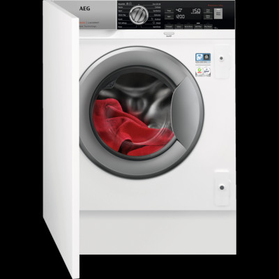 Save £110 at AO on AEG ProSteam Technology L7FC8432BI Integrated 8Kg Washing Machine with 1400 rpm - White - A+++ Rated
