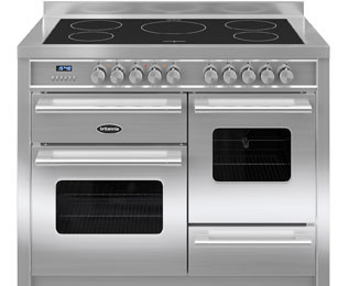 Save £700 at AO on Britannia Delphi RC-11XGI-DE-S 110cm Electric Range Cooker with Induction Hob - Stainless Steel - A/A Rated