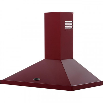 Save £101 at AO on Rangemaster LEIHDC90CY/C 90 cm Chimney Cooker Hood - Cranberry / Chrome - B Rated