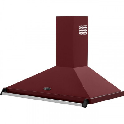 Save £100 at AO on Rangemaster Classic CLAHDC100CY/C 100 cm Chimney Cooker Hood - Cranberry / Chrome - E Rated