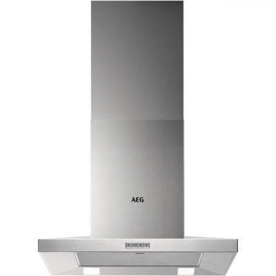 Save £32 at AO on AEG DKB4650M 60 cm Chimney Cooker Hood - Stainless Steel - B Rated