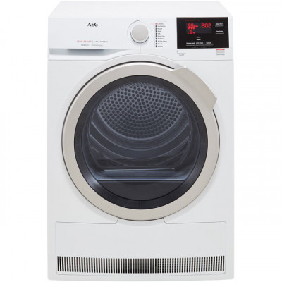 Save £70 at AO on AEG SensiDry Technology T7DBG832R 8Kg Heat Pump Tumble Dryer - White - A+ Rated