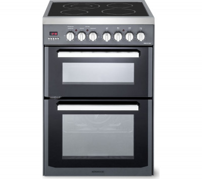 Save £90 at Currys on KENWOOD CK235C 60 cm Electric Ceramic Cooker - Slate Grey & Chrome, Grey