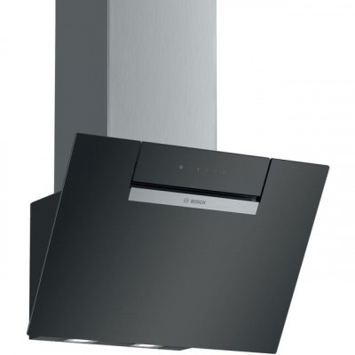 Save £66 at AO on Bosch Serie 2 DWK67EM60B 60 cm Angled Chimney Cooker Hood - Black - B Rated