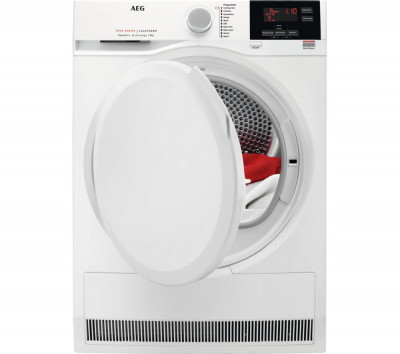 Save £81 at Currys on AEG 7000 Series T7DBG840N 8 kg Heat Pump Tumble Dryer - White, White