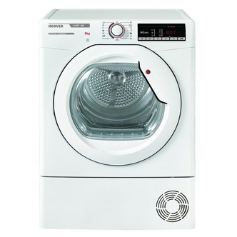 Save £40 at Sonic Direct on Hoover HLXC8DG 8kg Condenser Tumble Dryer in White Sensor B Energy