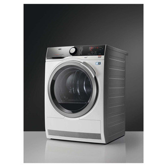 Save £150 at Sonic Direct on AEG T8DEE945R 8000 Series Heat Pump Tumble Dryer in White 8kg A