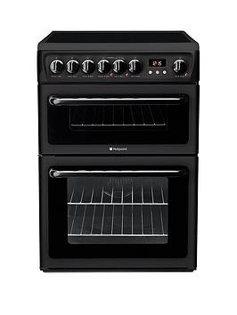Save £40 at Very on Hotpoint Newstyle Hae60K 60Cm Double Oven Electric Cooker With Ceramic Hob - Black