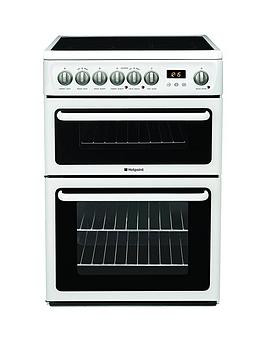 Save £50 at Very on Hotpoint Newstyle Hae60Ps 60Cm Double Oven Electric Cooker With Ceramic Hob - White