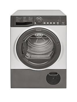 Save £50 at Very on Hotpoint Tcfs83Bgg 8Kg Load Condenser Tumble Dryer - Graphite