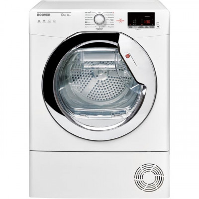 Save £100 at AO on Hoover Dynamic Next DXWH11A2DCEXM Wifi Connected 11Kg Heat Pump Tumble Dryer - White / Chrome - A++ Rated