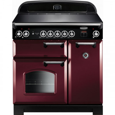 Save £448 at AO on Rangemaster Classic CLA90EICY/C 90cm Electric Range Cooker with Induction Hob - Cranberry / Chrome - A/A Rated