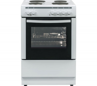 Save £20 at Currys on ESSENTIALS CFSE60W17 60 cm Electric Cooker - White, White