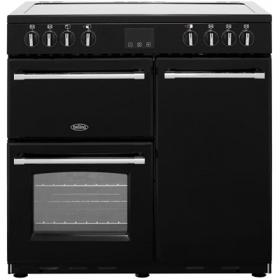Save £151 at AO on Belling Farmhouse90E 90cm Electric Range Cooker with Ceramic Hob - Black - A/A Rated