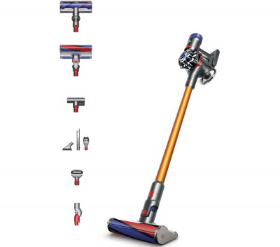 Save £100 at Currys on DYSON V8 Absolute Extra Cordless Bagless Vacuum Cleaner - Nickel & Yellow, Yellow