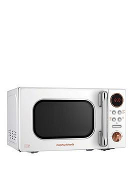 Save £17 at Very on Morphy Richards 20-Litre Microwave - White Rose Gold