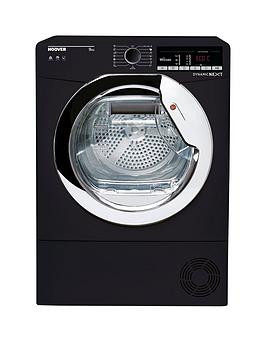 Save £40 at Very on Hoover Dynamic Next Dxoc9Tceb 9Kg Load, Aquavision Condenser Tumble Dryer With One Touch - Black/Chrome