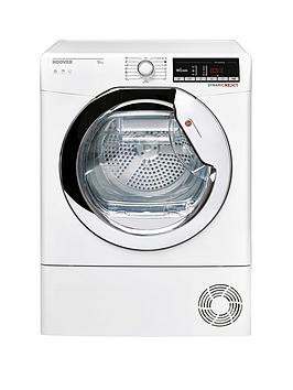 Save £50 at Very on Hoover Dynamic Next Dxoc9Tce 9Kg Load Aquavision Condenser Tumble Dryer With One Touch - White/Chrome