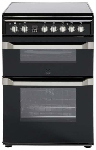 Save £50 at Argos on Indesit ID60C2 60cm Double Oven Electric Cooker - Black