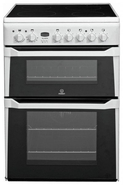 Save £50 at Argos on Indesit ID60C2 60cm Double Oven Electric Cooker - White