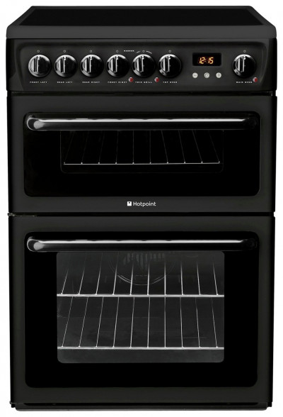 Save £50 at Argos on Hotpoint HAE60K 60cm Double Oven Electric Cooker - Black