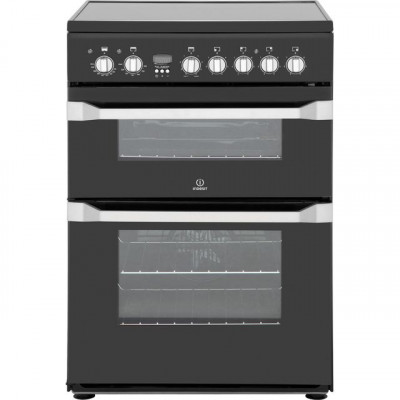 Save £50 at AO on Indesit Advance ID60C2KS Electric Cooker with Ceramic Hob - Black - B/B Rated
