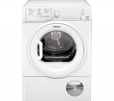 Save £80 at Currys on HOTPOINT Aquarius TCFS 93B GP 9 kg Condenser Tumble Dryer - White, White