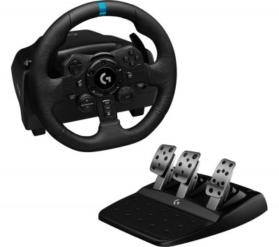 Save £90 at Currys on LOGITECH G923 Racing Wheel & Pedals - PS4 & PC, Black, Black