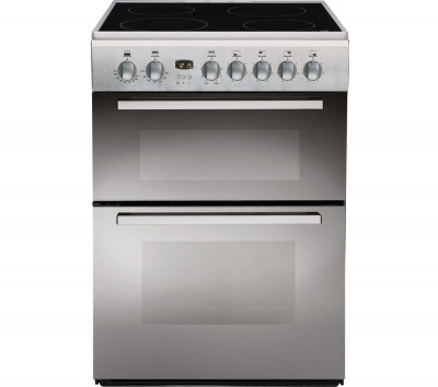 Save £40 at Currys on INDESIT DD60C2CX.1 60 cm Electric Ceramic Cooker - Mirror, Black