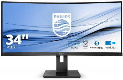 Save £62 at Ebuyer on Philips 345B1C 34'' VA LED Curved Monitor