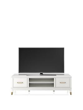 Save £70 at Very on Cosmoliving By Cosmopolitan Westerleigh Tv Stand - White - Fits Up To 65 Inch