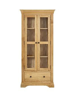Save £90 at Very on Luxe Collection Constance Oak Ready Assembled Glass Door Display Cabinet