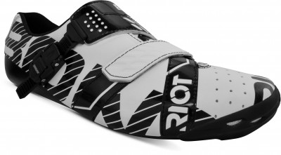 Save £10 at Halfords on Bont Riot Buckle Cycling Shoe, White/Black, 41