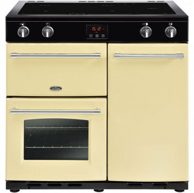 Save £270 at AO on Belling Farmhouse90Ei 90cm Electric Range Cooker with Induction Hob - Cream - A/A Rated