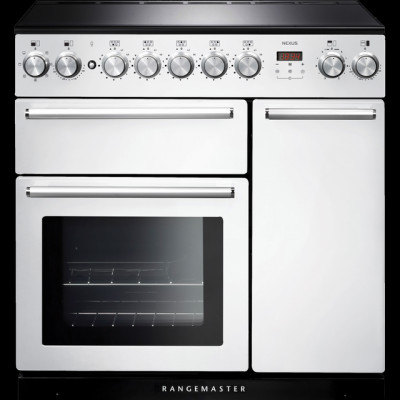 Save £610 at AO on Rangemaster Nexus NEX90EIWH/C 90cm Electric Range Cooker with Induction Hob - White / Chrome - A/A Rated