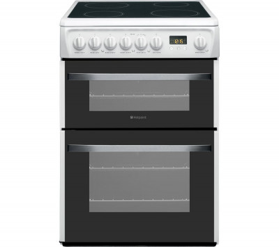 Save £80 at Currys on HOTPOINT DSC60P.1 60 cm Electric Ceramic Cooker - White, White