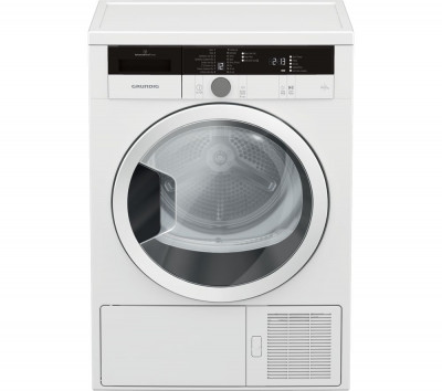 Save £70 at Currys on Grundig Tumble Dryer GTN28240GW 8 kg Heat Pump - White, White