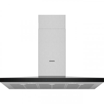 Save £98 at AO on Siemens IQ-300 LC97QFM50B 90 cm Chimney Cooker Hood - Stainless Steel - B Rated