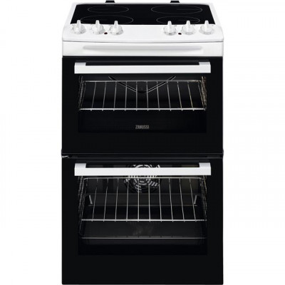 Save £50 at AO on Zanussi ZCV46050WA 55cm Electric Cooker with Ceramic Hob - White - A/A Rated