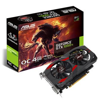 Save £26 at Scan on ASUS NVIDIA GeForce GTX 1050 Ti 4GB Cerberus OC Graphics Card