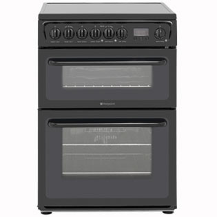Save £37 at AO on Hotpoint Newstyle HAE60KS Electric Cooker with Ceramic Hob - Black - B/B Rated